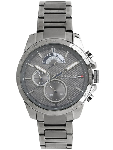 tommy hilfiger grey dial grey stainless steel strap watch nbth1791347-NBTH1791347