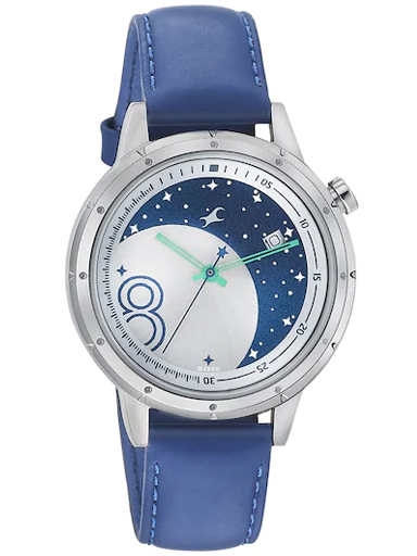 fastrack analog eclipse space rover blue strap watch-6194SL01