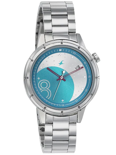 fastrack analog eclipse space rover metal watch-6194SM01