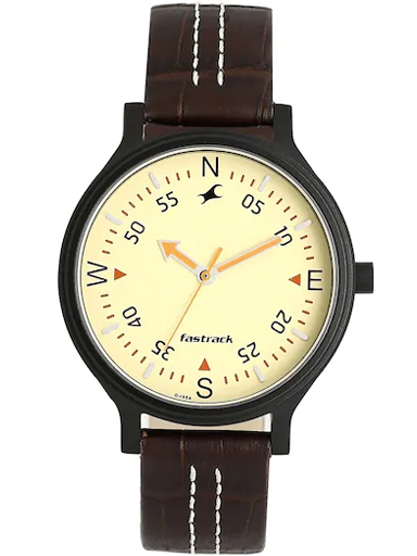 fastrack road trip analog yellow dial women's watch-6189NL02