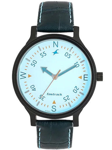 fastrack road trip analog blue dial women's watch-6189NL03