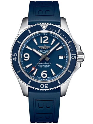 Breitling Superocean Automatic 42 Stainless Steel - Blue Men's Watch-A17366D81C1S2