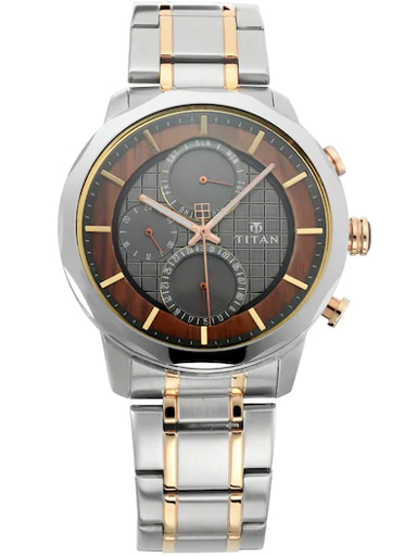 Titan Queen's By Grand-Master Anthracite Multi-Function Dial Men's Watch NL1789KM01-NL1789KM01