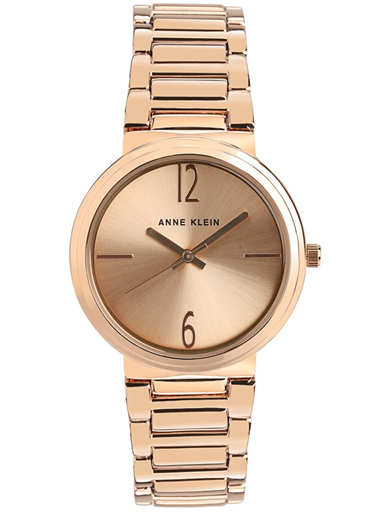 Anne Klein Rose Gold Dial Analog Watch-NBAK3168RGRG