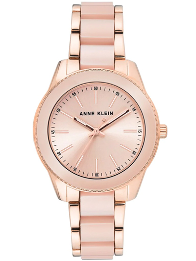 Anne Klein Round Analog Light Pink Ladies Watch-AK3214LPRG