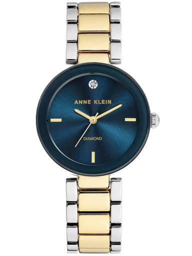 Anne Klein Womens Navy Blue Dial Stainless Steel Analogue Watch-AK1363NVTT