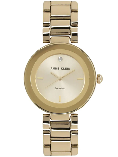 anne klein womens analogue metallic watch-AK1362CHGB