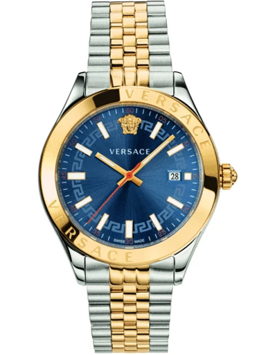 Versace Hellenyium Blue Dial Men's Watch-VEVK00520