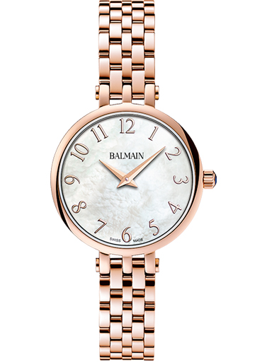 Balmain Sedirea White MOP Dial Steel Rose Gold Women's Watch-B4299.33.84