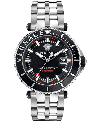 Versace V-race Diver Men's Stainless Steel Swiss Watch-VAK030016