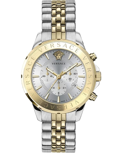 Versace Men's Watch Signature Chronograph Two Tone Gold & Steel Watch-VEV600519