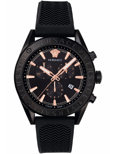Versace V-Chrono Silicon Strap Analoh Watch-VEHB00419