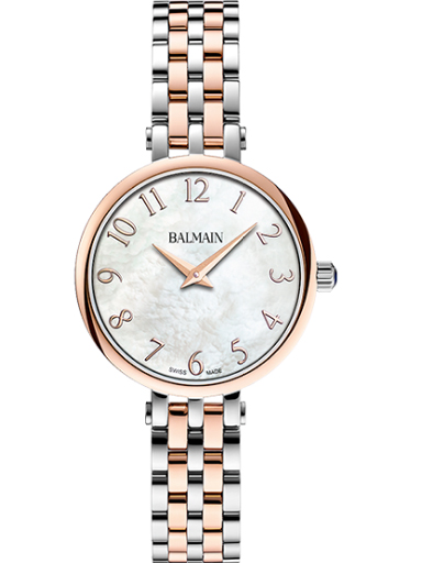 Balmain Sedirea White MOP Dial Steel Rose Gold Women's Watch-B4298.33.84