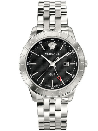 Versace Univers Round Analog Black Dial Men Watch-VEBK00418