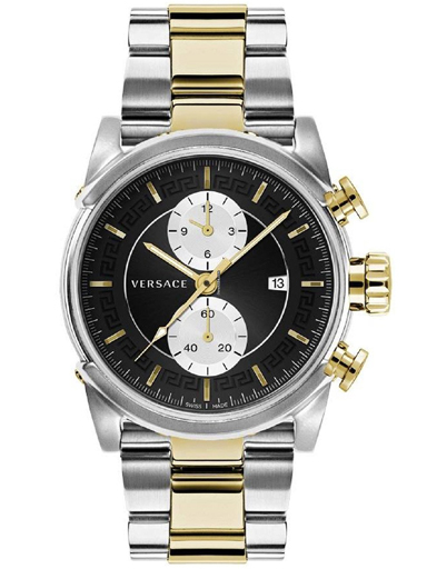 Versace Urban Two Tone Stainless Steel Men's Watch-VEV400519