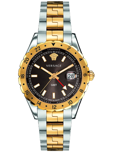 Versace Hellenyium Brown Dial Two-tone Men's Watch-V11040015