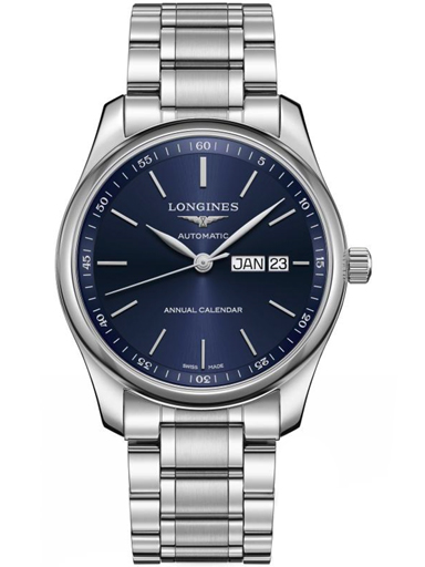longines master automatic blue dial steel men's watch-L2.910.4.92.6