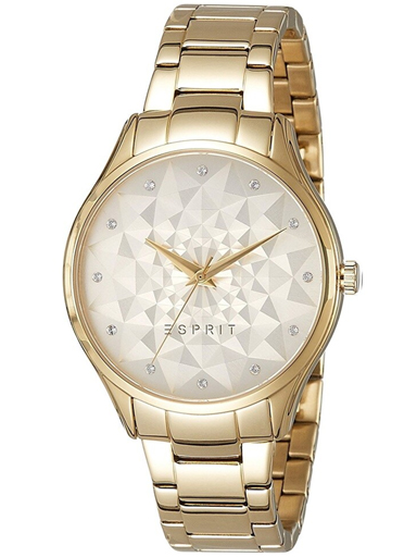 ESPRIT Gold Dial Golden Metal Strap Women's Watch ES109022002-ES109022002