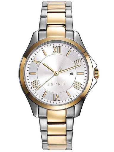 ESPRIT Silver Dial Two Tone Metal Strap Women's Watch ES109262003-ES109262003