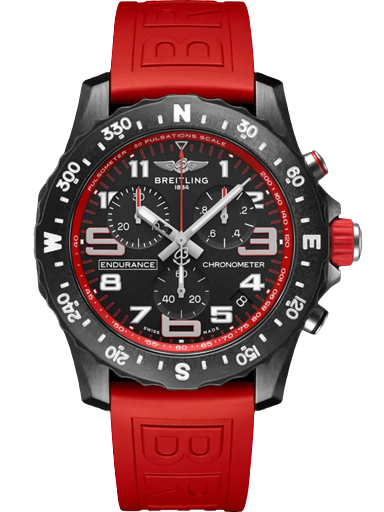 Breitling Endurance Pro Breitlight ® - Black Dial Red Strap Men's Watch-X82310D91B1S1