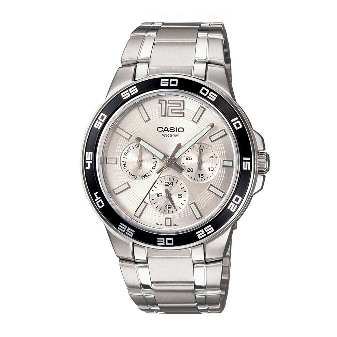 casio enticer men mtp-1300d-7a1vdf (a484) multi dial men's watch-A484