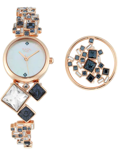titan cocktails from raga mother of pearl dial women's watch 95106wm02f-95106WM02F