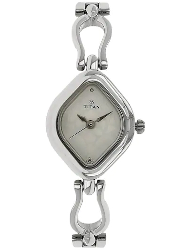 titan white dial silver stainless steel strap women's watch nm2536sm02-NM2536SM02
