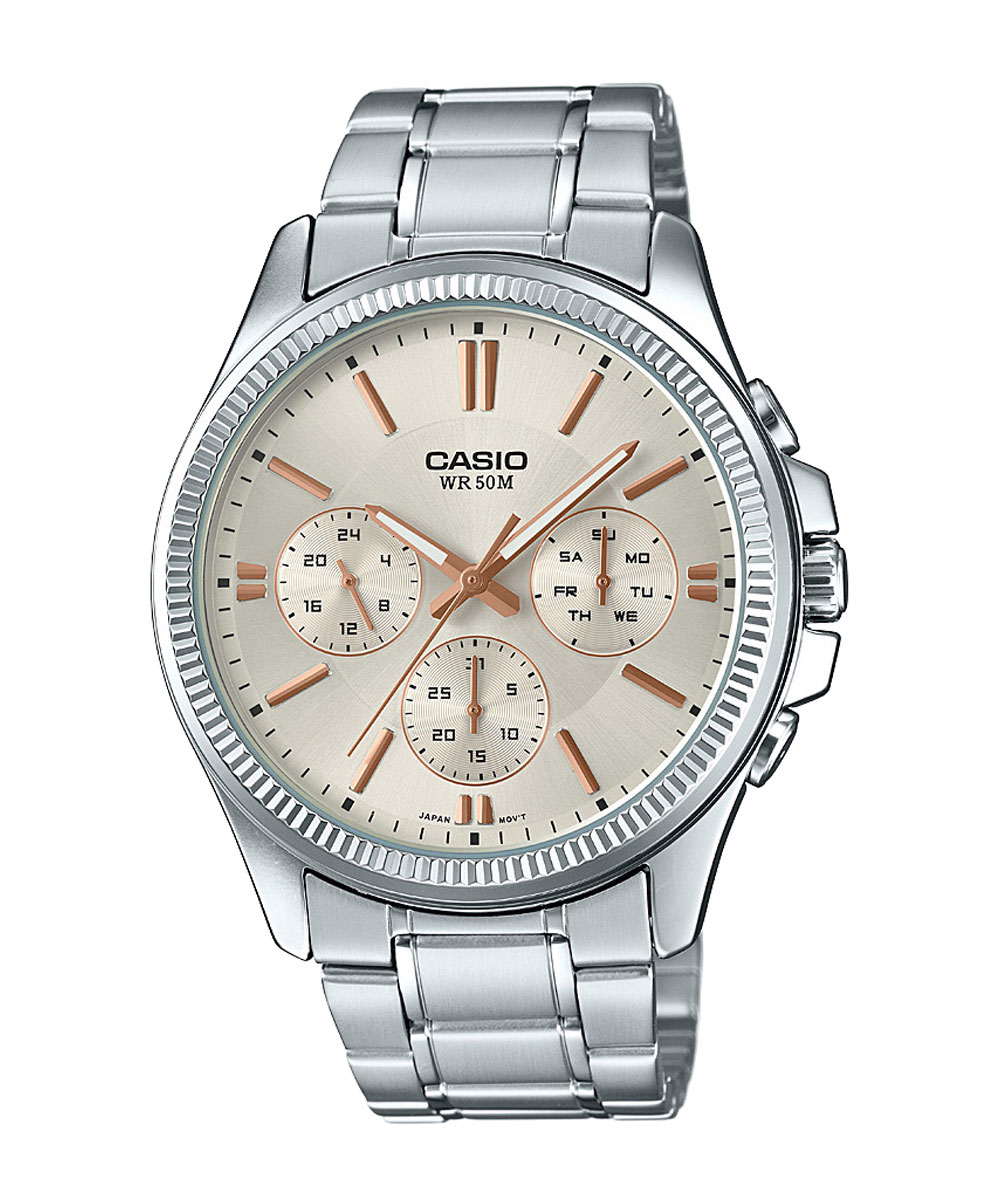 Casio Enticer Men MTP-1375D-7A2VDF (A1078) Multi Dial Men's Watch-A1078