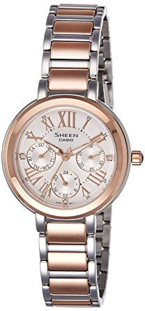 casio sheen she-3034spg-7audr (sx185) rose gold women's watch-SX185