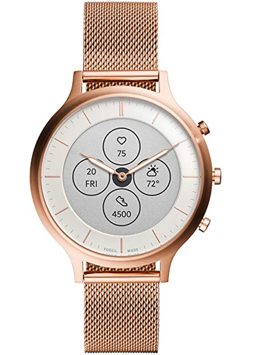Hybrid Smartwatch HR Charter Rose Gold-Tone Stainless Steel Mesh-FTW7014
