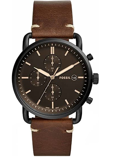 the commuter chronograph brown leather watch-FS5403I