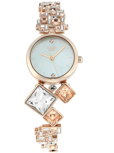 titan cocktails from raga mother of pearl dial metal strap watch 95106wm01f-95106WM01F