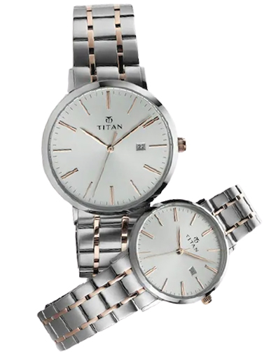 titan bandhan silver dial stainless steel strap watches 9400294202km01-9400294202KM01