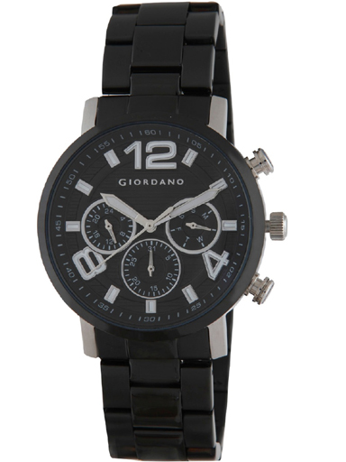 Giordano Multi-Function Black Dial Stainless Steel Strap Watch 1874-11-1874-11