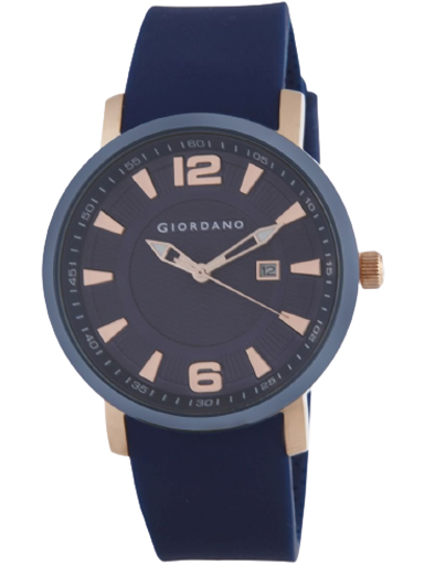 Giordano Blue Dial Blue Silicon Strap Men's Watch 1875-02-1875-02