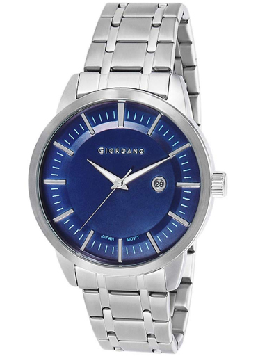 giordano blue dial stainless steel strap men's watch 1947-22-1947-22