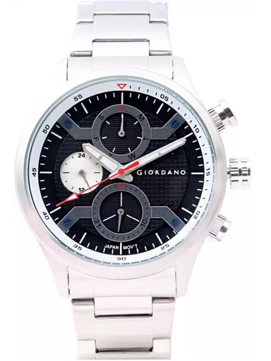Giordano Black Dial Stainless Steel Strap Men's Watch 1978-11-1978-11