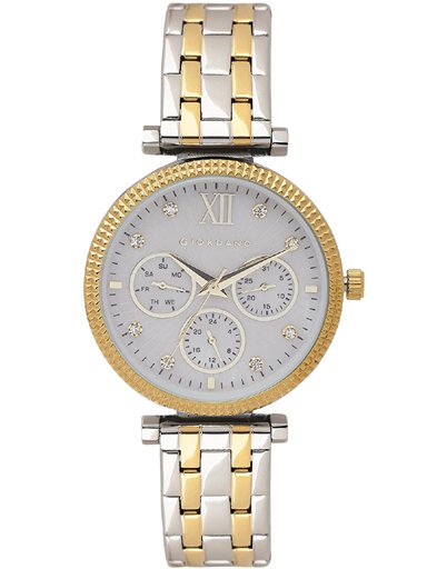 giordano grey dial two tone stainless steel strap women's watch 2840-55-2840-55
