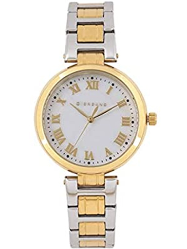 Giordano Silver Two Tone Metal Strap Women's Watch 2846-44-2846-44