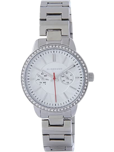 Giordano White Dial Metal Strap Women's Watch 2881-11-2881-11