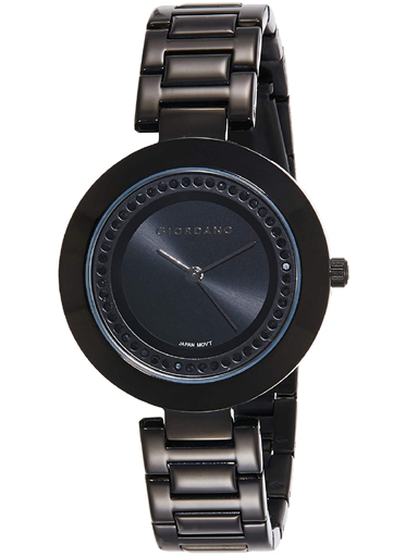Giordano Black Dial Metal Strap Women's Watch 2975-11-2975-11