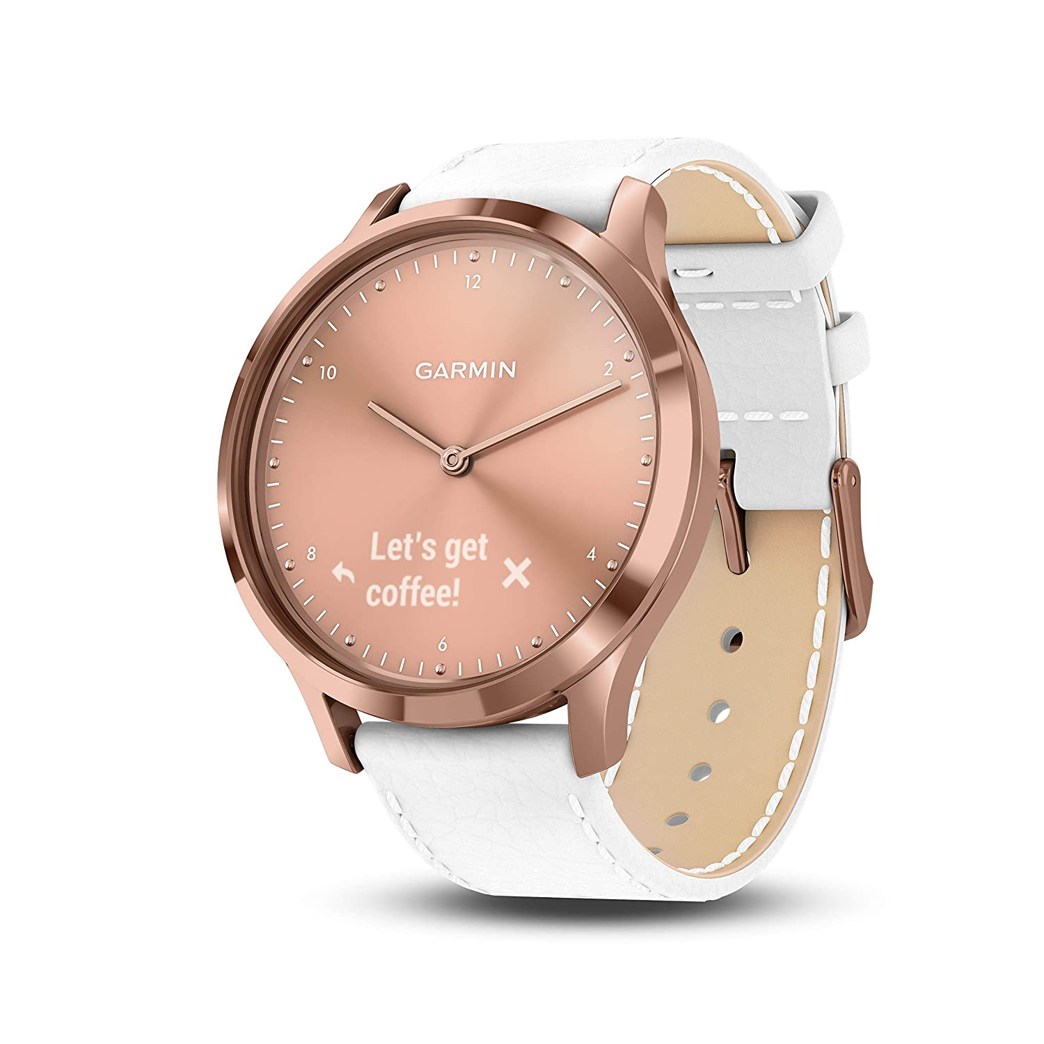 GARMIN VIVO -VIVOMOVE HR SPORT ROSE GOLD WHITE WATCH-Vivomove HR Sport Rose Gold/White