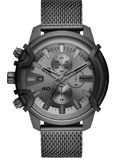 Diesel Griffed Chronograph Gunmetal Stainless Steel Watch-DZ4536I