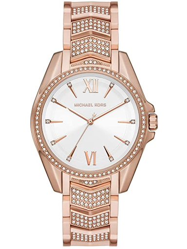 michael kors women whitney quartz watch with stainless steel-MK6858I