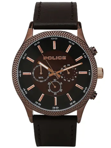 Police Brown Dial Analog Watch For Men-PL15002JBBN12