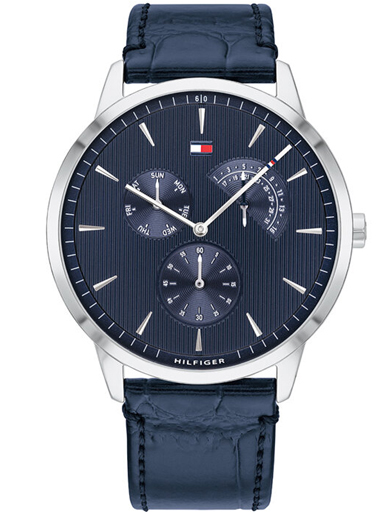 tommy hilfiger analog blue dial men's watch-TH1710387