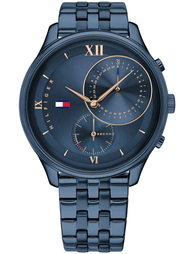 Tommy Hilfiger Women Blue Stainless Steel Chronograph Watch-TH1782181