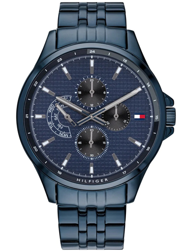 Tommy Hilfiger Blue Dial Stainless Steel Strap Watch-TH1791618W