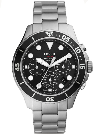 Fossil FB-03 Chronograph Stainless Steel Watch-FS5725