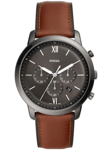 fossil neutra chronograph amber leather watch-FS5512